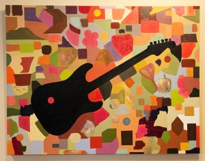 "Electric Guitar • 2013 • Oil on Canvas • 36"" x 48"""