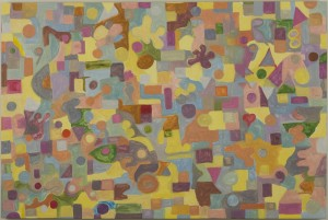 "Abstract No. 10 • 2008 • Oil on Canvas • 24"" x 36"""