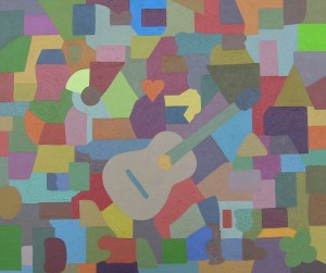 "Guitar • 2015 • Oil on Canvas • 18"" x 24"""